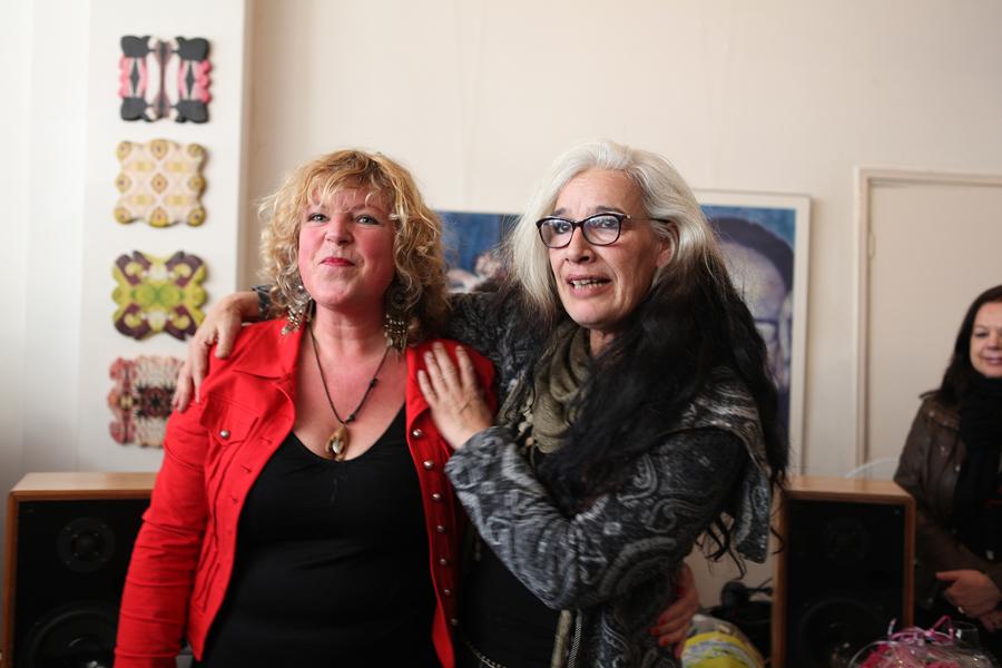 Janneke Pater exposeert haar foto's.