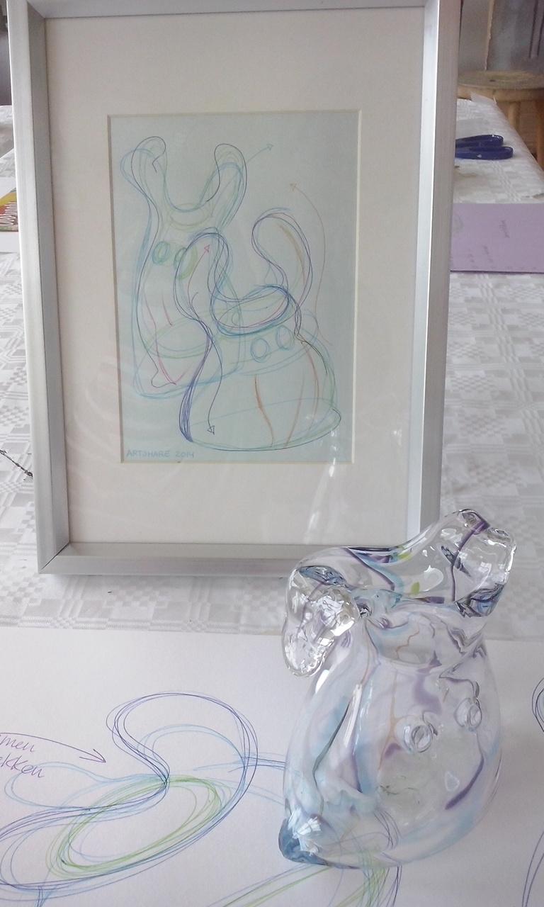 schets in lijst, Mariska Mallee, prijs € 25,00
