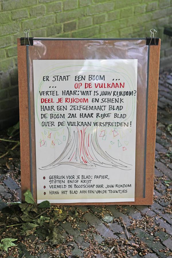 Er staat een boom op de vulkaan ...