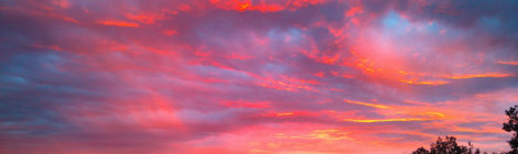 schilderachtige zonsondergang