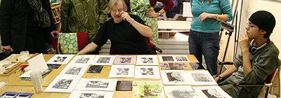 Linosnede workshop Marco van Ooijen oktober 2017