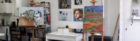Expositie cursisten tijdens het Landelijk Atelier Weekend 22 juni